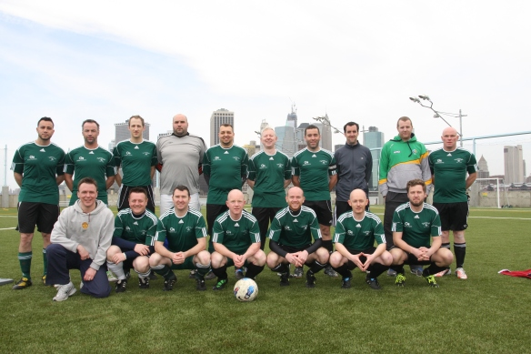 The Shamrocks Over 30s side that took on Manhattan Celtic Legends. (Courtesy Eoin Sweeney)