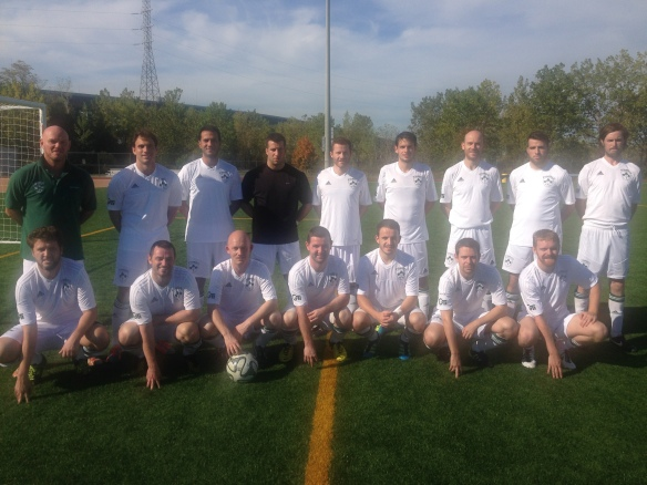 The reserves line up prior to their 3-0 win over New Amsterdam. picture: Jennifer Kraus