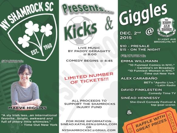 Shamrocks Comedy Flyer