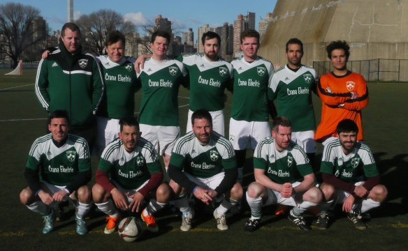 over 30s team v brooklyn gunners