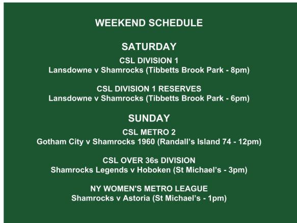 SHAMROCKS sunday schedule graphic (1)