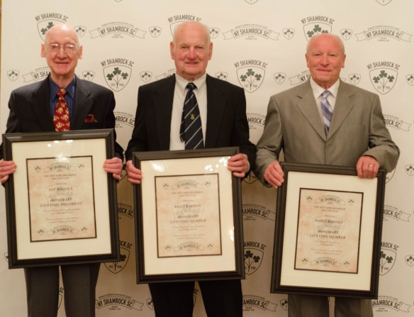 Shamrocks banquet honorees 00