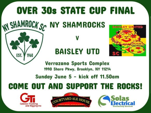 shamrocks over 30 state cup final poster