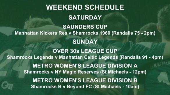 2 SHAMROCKS league cup schedule graphic