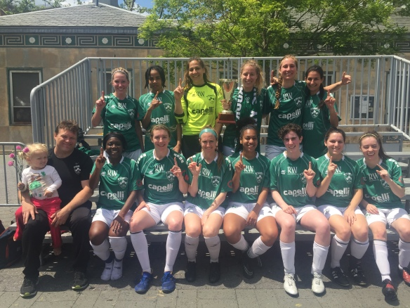 170514 shamrocks women team Div A cup winners