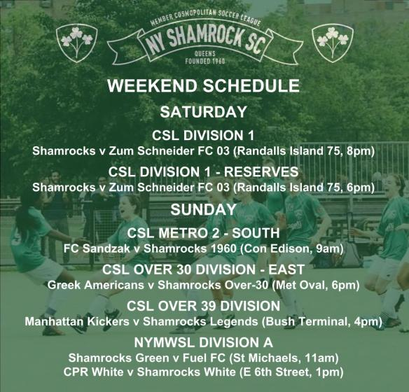 WEEKEND SCHEDULE - 201819