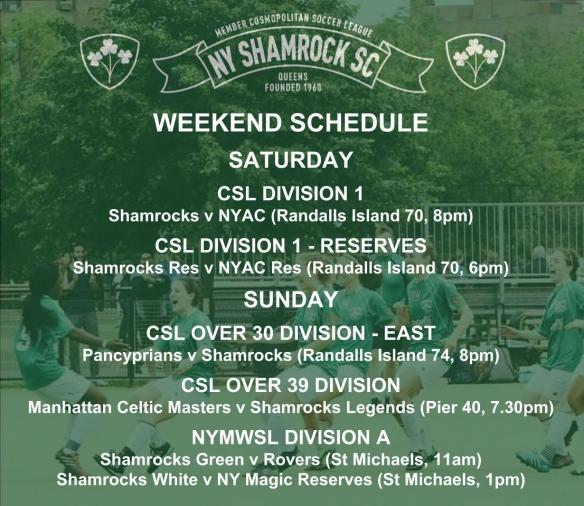 WEEKEND SCHEDULE - 2018_19