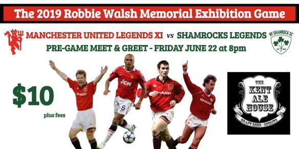Robbie Walsh Game - Kent Meet & Greet flier