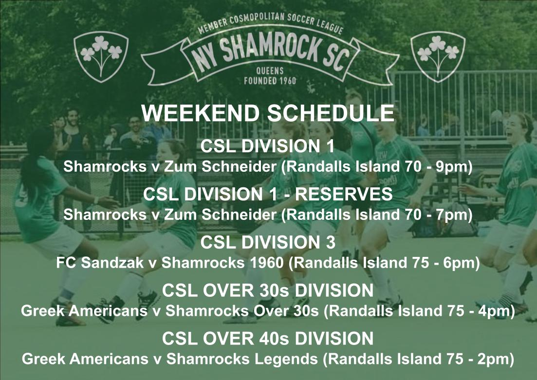 WEEKEND SCHEDULE - 2019_2020